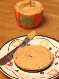 Pumpkin spice dip served with pretzels