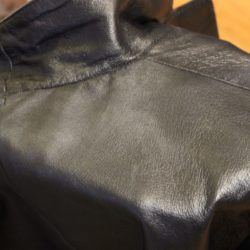 Clean back leather jacket