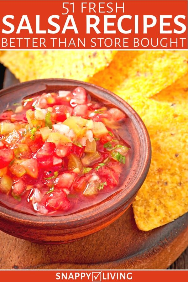 Fresh salsa in a bowl with chips
