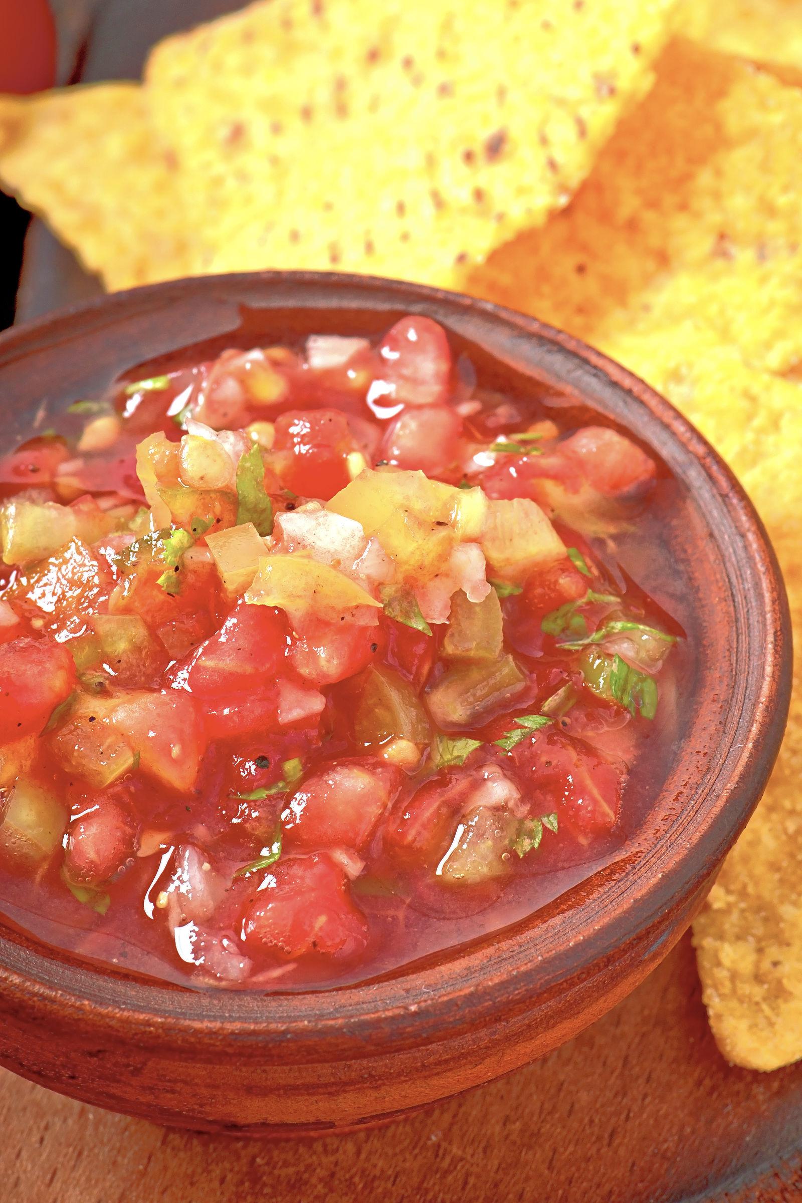 Fresh salsa recipe in a bowl