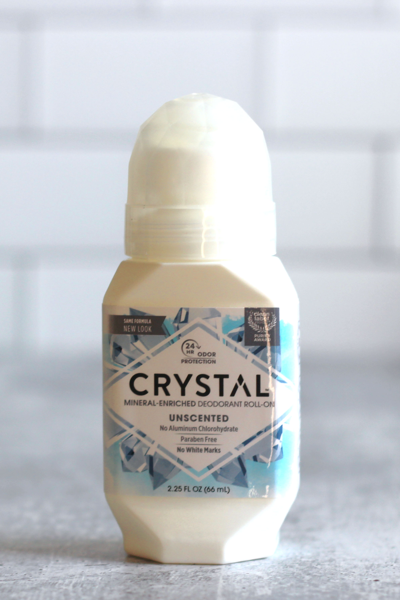 Bottle of roll-on Crystal deodorant