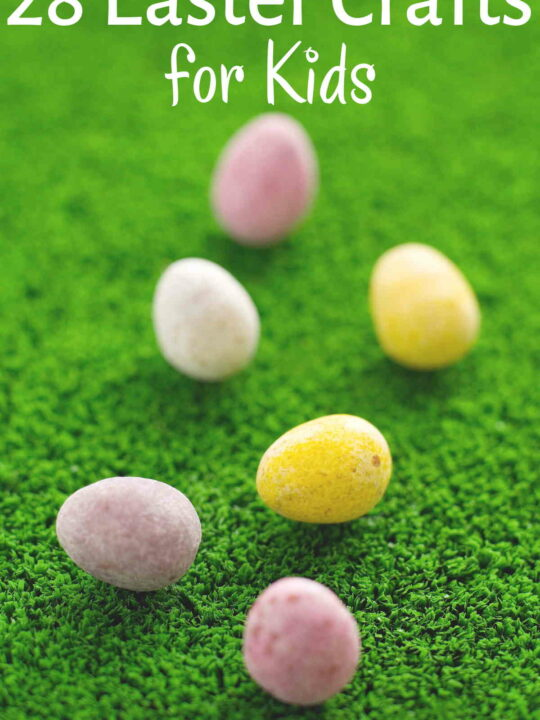 Felted Easter eggs on grass