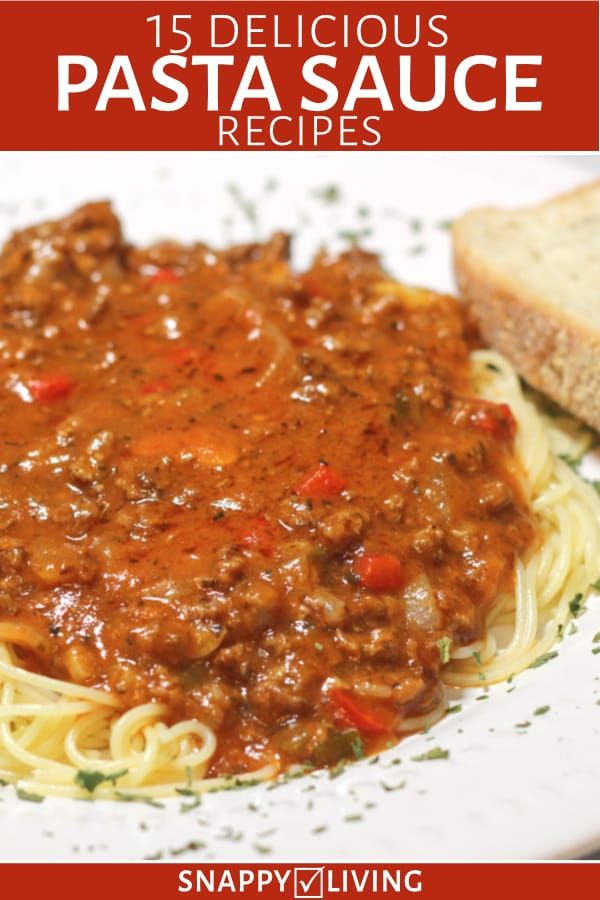 Plate of angel hair pasta with meat sauce