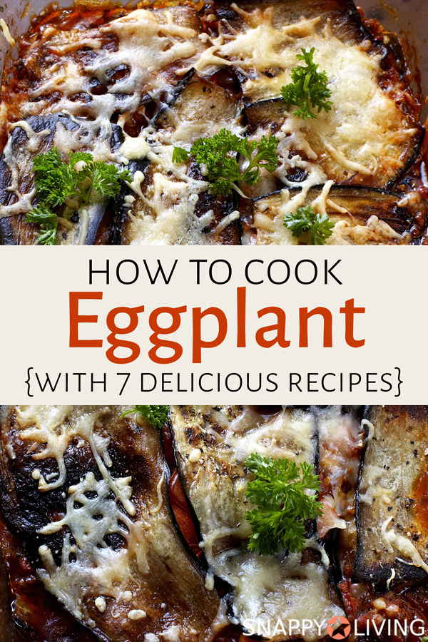 Once you learn how to cook eggplant, you'll find it's a delicious filling veggie that can substitute for meat. These are my tips for picking good ones and cooking them well, along with some eggplant recipes. #cooking #recipes