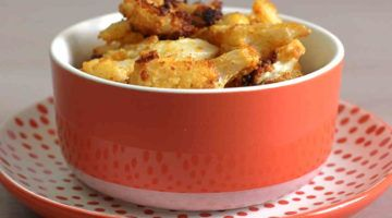 Spicy Cauliflower with Parmesan in bowl