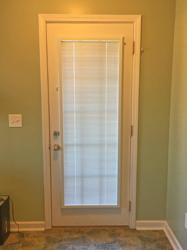 Door blinds installed on patio door