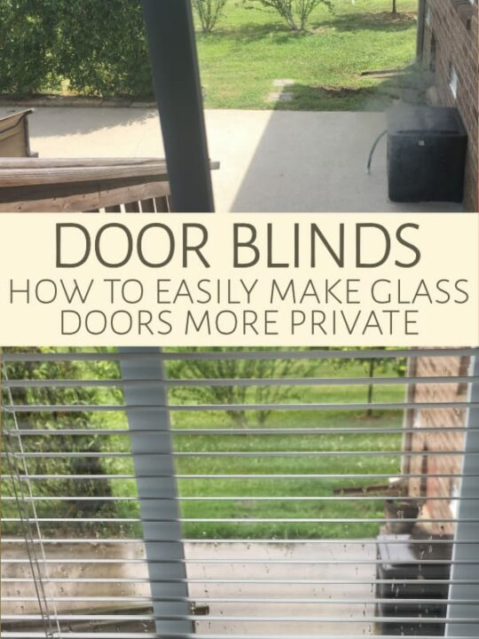 If you have a mostly glass patio door, you can easily make it feel more private by installing door blinds. These affordable, pre-assembled units are easy to install and let you angle blinds for maximum light and maximum privacy.