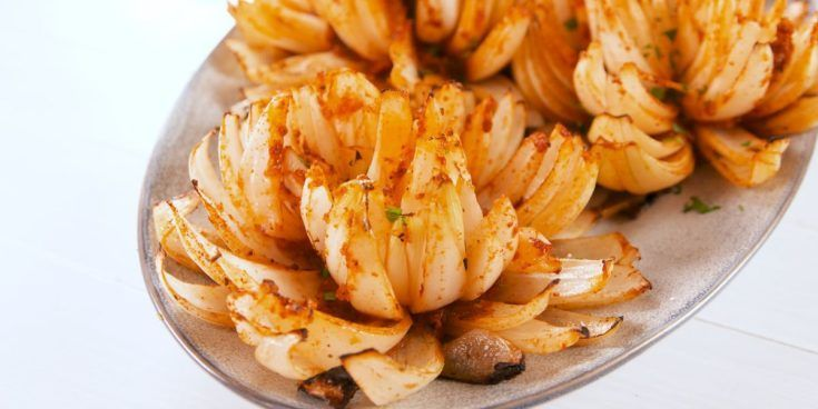 Grilled Onion Blossoms Recipe