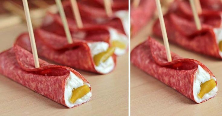Easy Salami Roll Ups