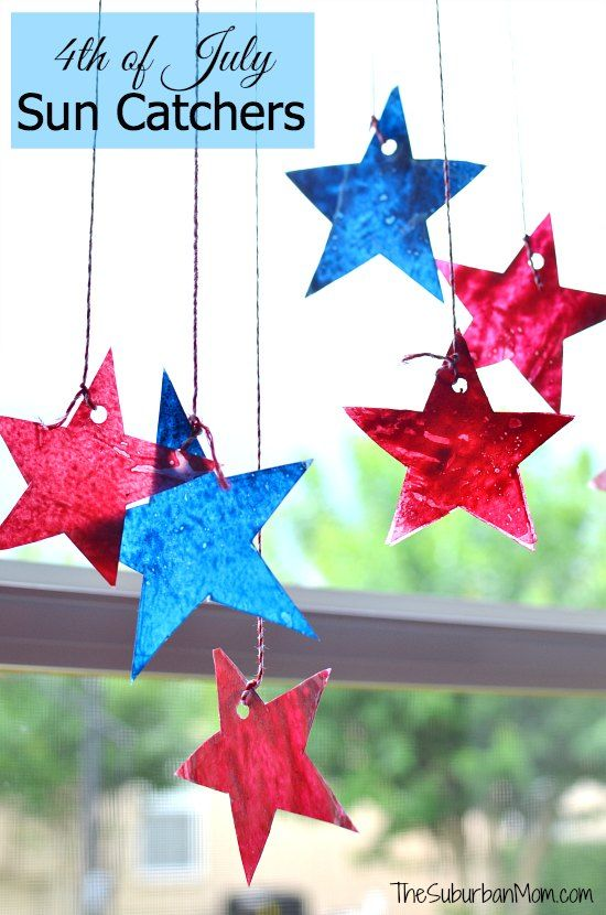 4th of July Star Sun Catchers: Kids Craft
