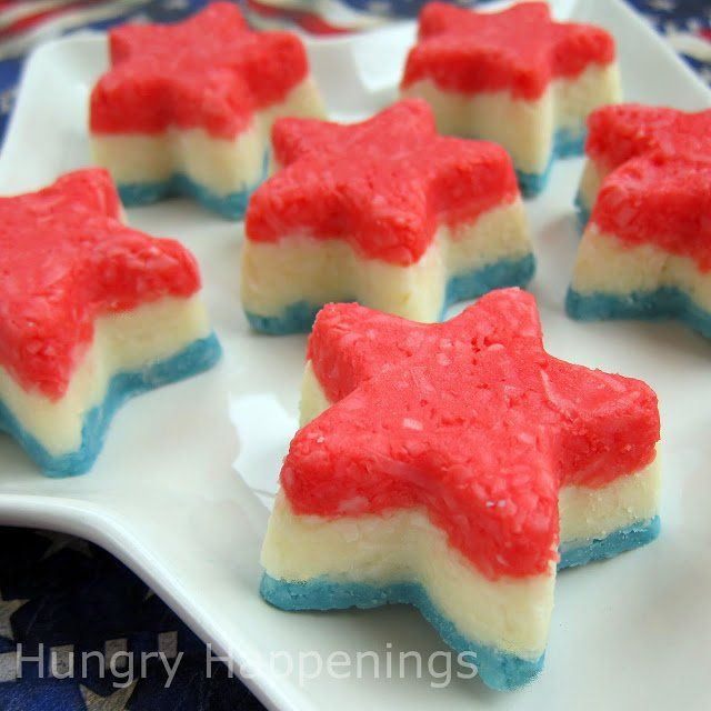Red, White, and Blue Striped Creamy Coconut Stars