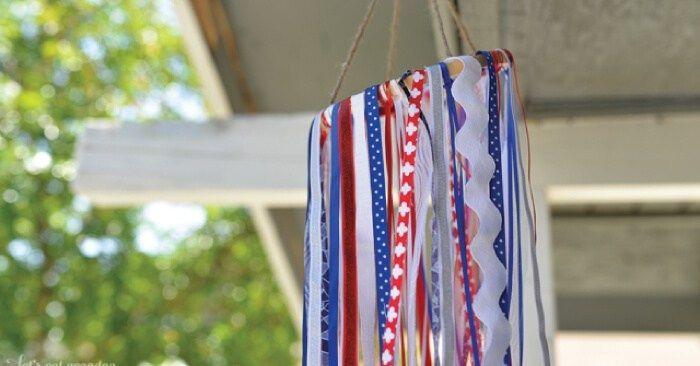 Scrapbusting Patriotic Windsock