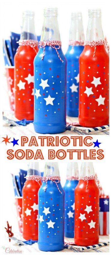 Patriotic Soda Bottles