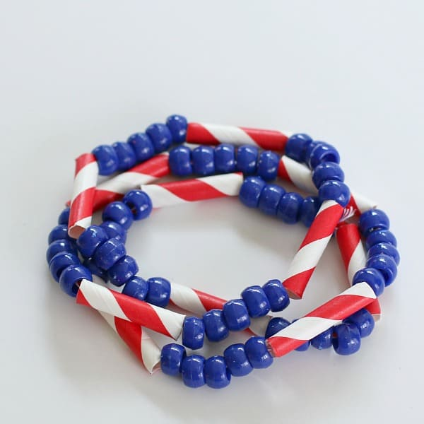 4th of July Craft for Kids: Patriotic Necklace