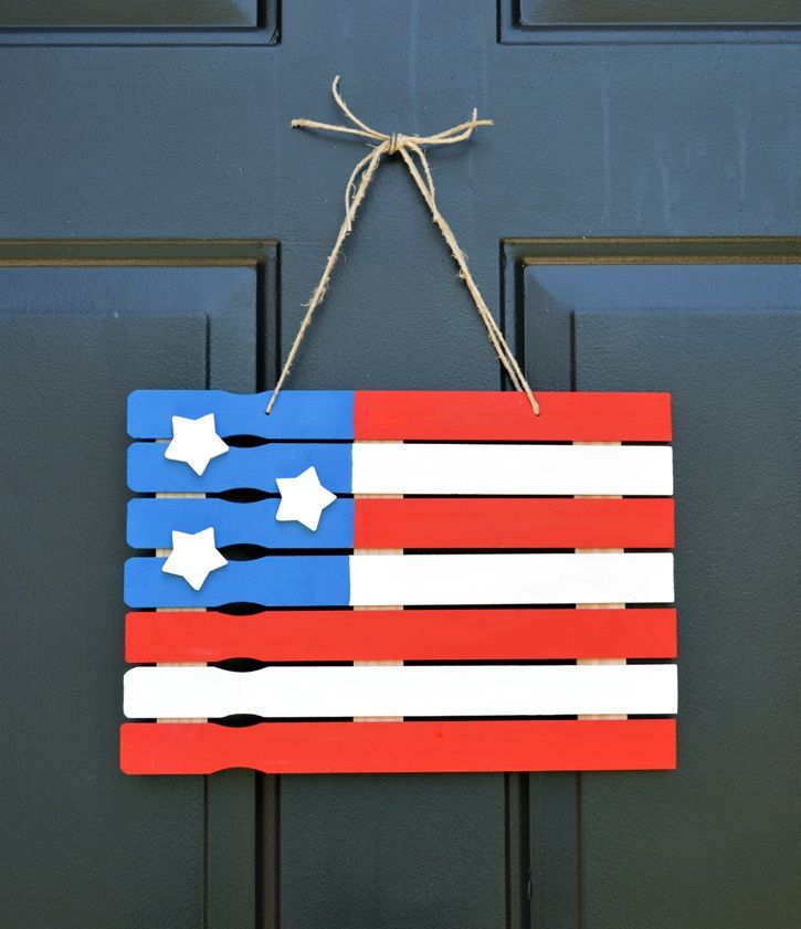 American Flag Paint Stick Project