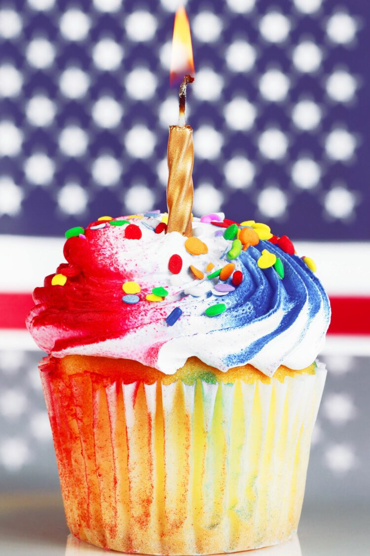 Cupcake from Fourth of July recipe