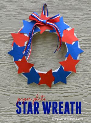 Patriotic Star Wreath Craft for Kids