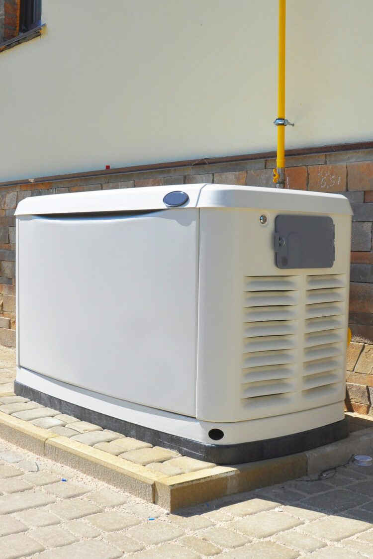 Home generator system outside house